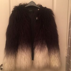 Maison Scotch X Stone Free Faux Fur Jacket- Ombre